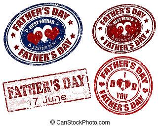 fête pères, timbre