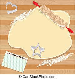 fête, petit gâteau, invitation