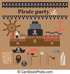 fête, pirate, idées