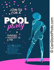 fête, piscine