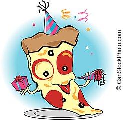 fête, pizza