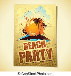 fête, plage