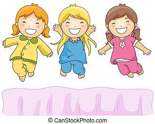 fête, pyjama