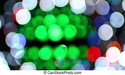 fête, résumé, laser, lumières