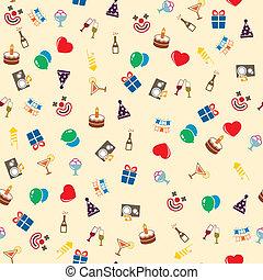 fête, seamless, célébration