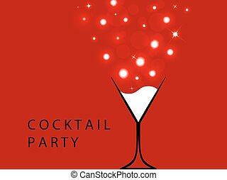 fête, vecteur, cocktail
