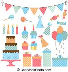 fêtede l'anniversaire, éléments