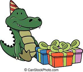 fêtede l'anniversaire, crocodile, utilisation