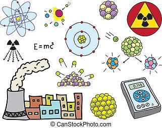 física, -, atômico, energia nuclear
