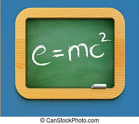 física, clase, icono