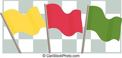 fórmula, banderas, uno