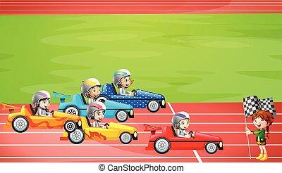 fórmula, carreras, estadio, uno