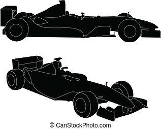 fórmula, coche