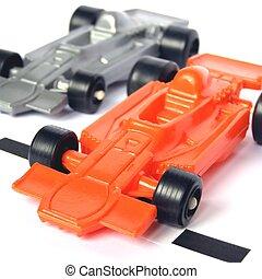 fórmula, f1, um, carros