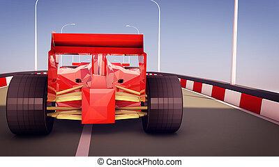 fórmula, rojo, ilustración, uno