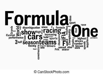 fórmula uno, nubes, texto