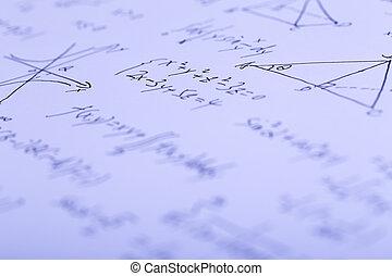 fórmulas, complejo, matemáticas