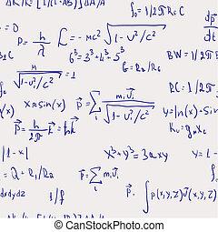 fórmulas, resumen, -, seamless, plano de fondo