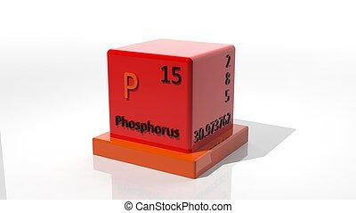 Ilustracin elemento qumico p forma tabla ilustraciones de fsforo 3d qumico elemento de el peridico urtaz Choice Image