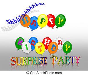 födelsedag, överraskning festa