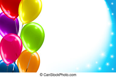 födelsedag, balloon, bakgrund