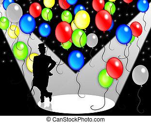 födelsedag festa, inbjudan