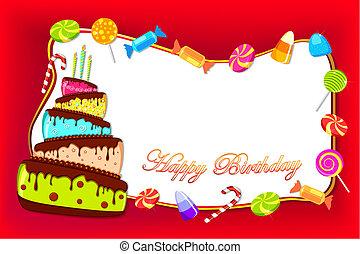 födelsedag kort, lycklig