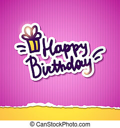 födelsedag, lycklig
