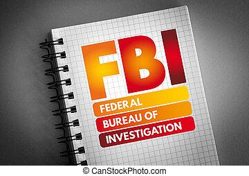 föderativ, büro, fbi, akronym, untersuchung, -