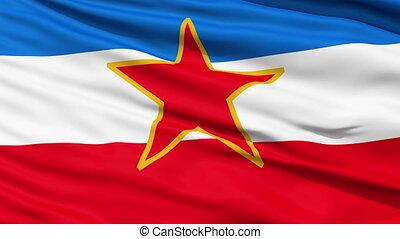 föderativ, fahne, republik, sozialist