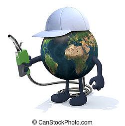 földdel feltölt, ábra, pumpa, fűtőanyag, 3