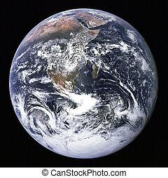 földdel feltölt, alapján, külső, space.