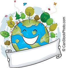 földdel feltölt, boldog