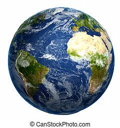 földdel feltölt földgolyó