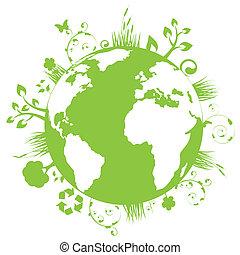földdel feltölt, zöld