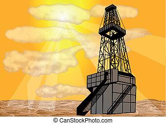 földgáz, fúrás
