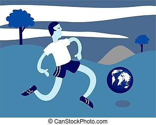 földgolyó, futball
