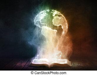 földgolyó, könyv