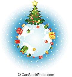 földgolyó, karácsony