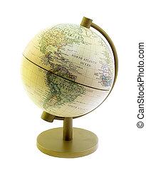 földgolyó, north atlantic, óceán, és, amerika, múlt