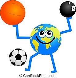 földgolyó, sport