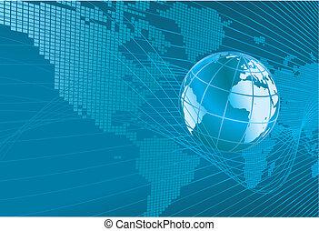földgolyó, térkép háttér, világ