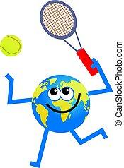 földgolyó, tenisz
