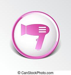 trocknen symbol zeichen haar icon f n wohnung grafik blasen on hintergrund symbol. Black Bedroom Furniture Sets. Home Design Ideas