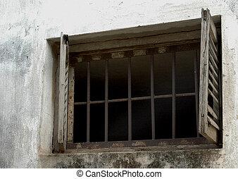 fönster, fängelse