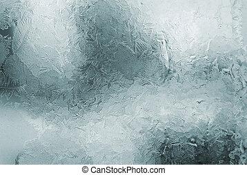 fönster, frostskadat