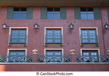 fönstren, lägenhet
