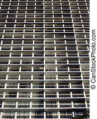 fönstren, mönster, byggnad