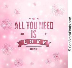 för alltid, vektor, kärlek