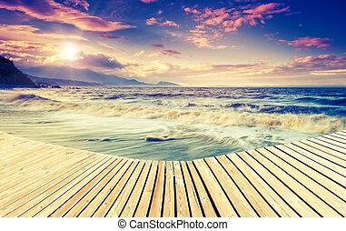 förbluffande, kust